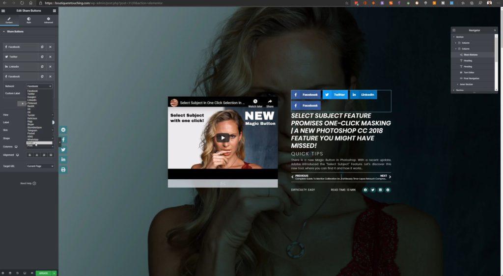 HAGER MEDIA add-social-networks-to-share-to-1024x562 Schwebende Share Button Leiste in deinen Wordpress Posts einbinden How To's [de]  Wordpress Elementor