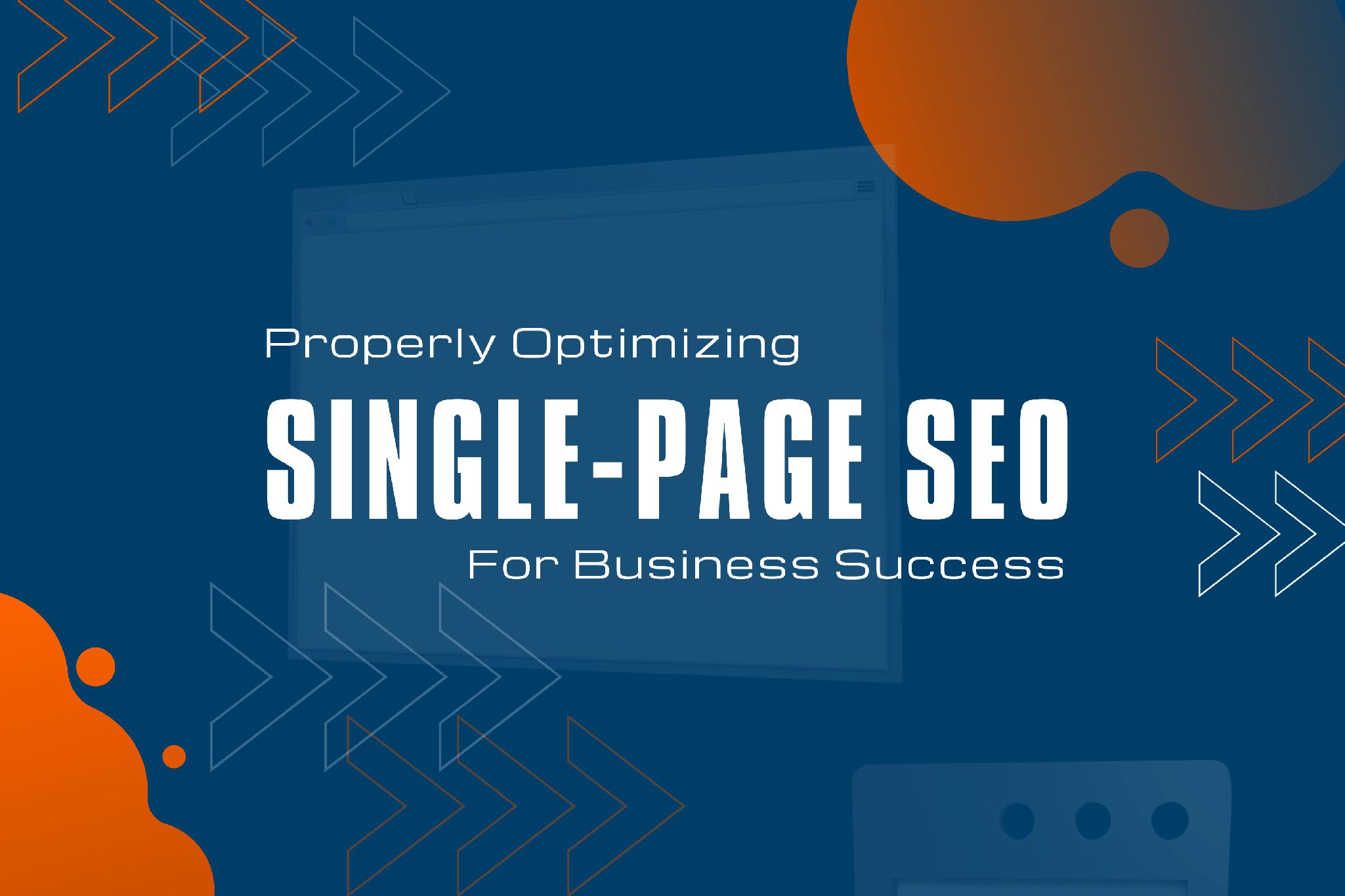 optimizing single page websites for seo success