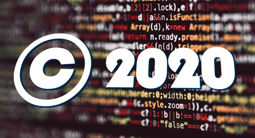 Dynamic Copyright Year Number Header